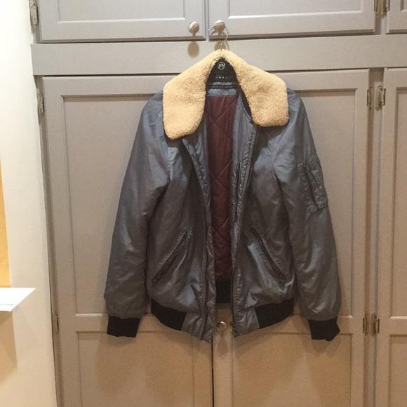 84cec77c Zara Jackets & Coats | One Week Until Gone Man Bomber Jacket | Poshmark